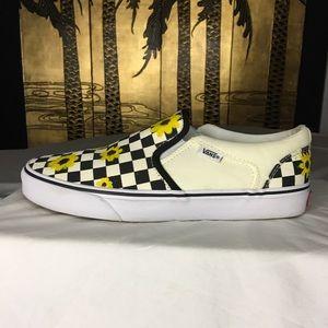 VANS Classic Checkerboard Slip-on w/Custom Artwork